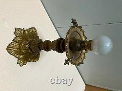 Lustre / Lanterne Style XVI Époque Napoleon IIII Décor Bronze Doré Xixeme