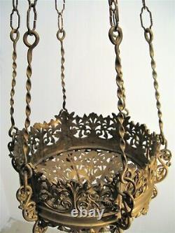 Lustre en bronze néogothique époque XIX ème siècle