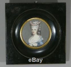 Madame De Lamballe, Miniature Signée Vd, époque XIX ème