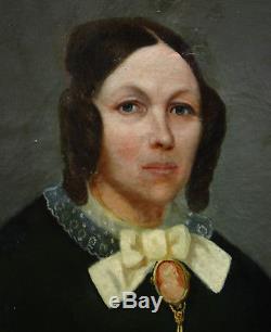 Miranda Portrait de femme Epoque Louis Philippe HST XIXème siècle