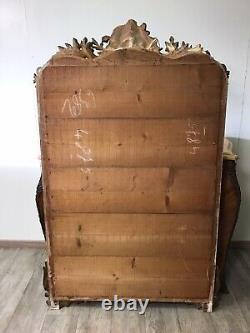 Miroir Doré Louis XV Rocaille d'époque 19eme Siècle XIXeme Ancien