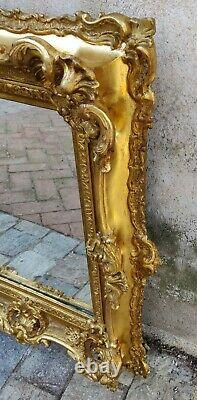 Miroir Rococo en bois doré et mercure Louis XV époque XIXème