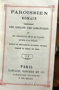 Missel paroissien romain reliure écaille de tortue et argent époque XIXème