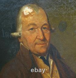 Molinari Portrait de L. Lahaye Epoque 1er Empire HST XIXème siècle