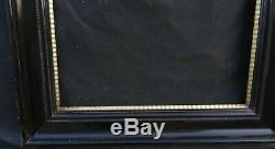 N° 593 Grand Cadre en bois laqué pour chassis 81 x 70,8 cm Epoque XIXème siècle