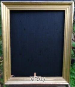 N° 703 CADRE Epoque XIXème bois doré à la feuille pour chassis 80,5 x 64 cm