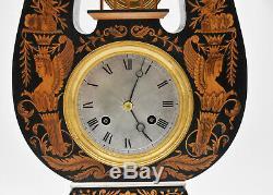 PENDULE LYRE époque Charles X XIX EME Kaminuhr clock horloge uhren cartel