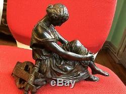 PRADIER Joli bronze Patine Brune SAPHO époque XIXème Fonderie Susse Frères