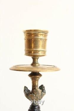 Paire De Candélabres En Bronze Doré Epoque XIXème