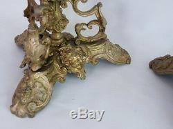 Paire De Coupes, socles, Vide Poches En Bronze Doré, époque XIX ème
