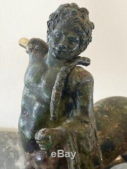 Paire de Centaures de Furietti en Bronze patine à l'antique époque XIXeme