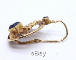 Paire de Dormeuses anciennes boucles d'oreilles en Or 18K époque XIXeme