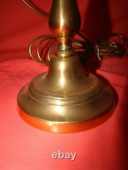 Paire de bougeoirs laiton massif époque XIX ème équipés en pied de lampe