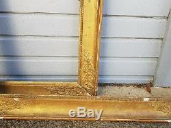 Paire de cadre ancien d'époque Empire en bois doré, XIX ème s