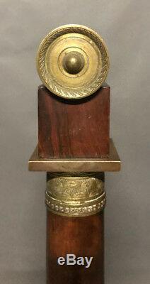 Pare-feu écran de cheminée époque EMPIRE en acajou et bronzes dorés 19eme XIXe