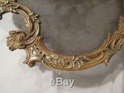 Pare feu en bronze de style Louis XV rocaille époque XIX ème siècle