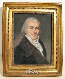 Pastel portrait d'homme époque Restauration XIX ème siècle
