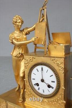 Pendule Allégorie De La Peinture Epoque XIXème