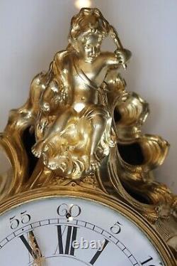 Pendule Cartel d'Alcove Epoque Fin XVIIIème Début XIXème