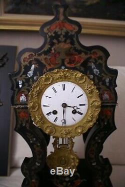 Pendule Napoléon 3 époque XIX ème, à restaurer (très belle)