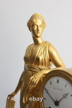 Pendule à La Diane Chasseresse Epoque XIXème