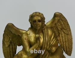 Pendule à automate d'époque Empire en bois doré XIXème