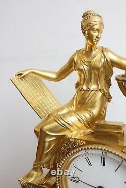 Pendule à l' Astronomie Epoque Empire XIXème Siècle