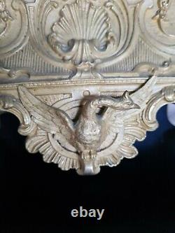 Pendule époque Restauration bronze doré Xixéme mouvement à fil old clock empire