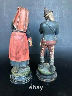 Personnage santon italien terre cuite époque XIXéme santon Napolitain terracotta