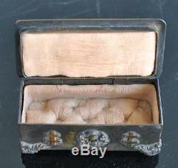 Petite boite à bijou époque XIXème croix de Lorraine