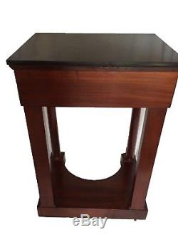 Petite console / chevet ancien dépoque Empire XIXème siècle en acajou