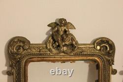 Petites paire de cadres en bronze à décor d'anges époque XIX ème siècle