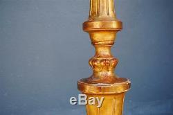 Pied de lampe bois doré pieds griffes époque XIXème