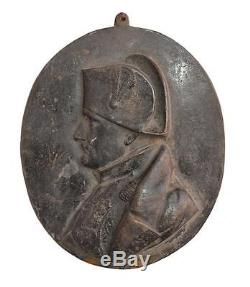 Plaque en bronze Napoléon Bonaparte époque XIXème