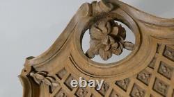 Plateau, Boiserie En Noyer Sculpté Monoxyle, époque XIX ème