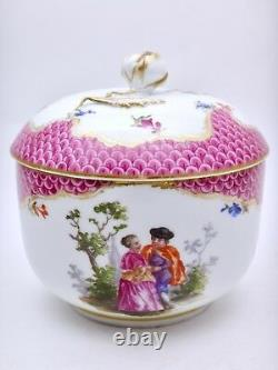 Porcelaine de MEISSEN pot couvert époque XIXeme