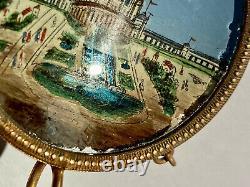 Porte-Montre Fixé sous Verre Palais du Trocadéro Éléphants Paris Époque XIX ème