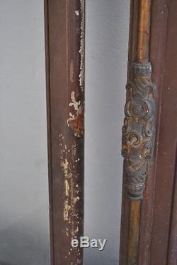 Portes anciennes époque fin XIXème de salon vitrées
