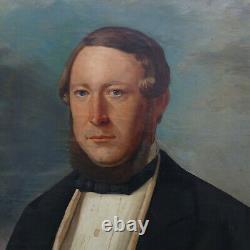 Portrait d'Homme Alsacienne Epoque Louis Philippe HST du XIXème siècle