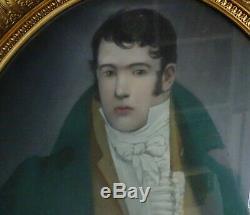 Portrait d'Homme Epoque 1er Empire Ecole Fançaise du XIXème siècle Pastel
