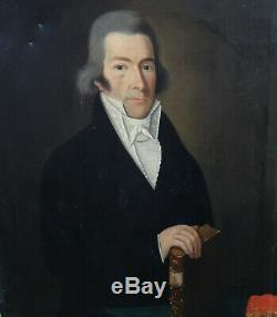 Portrait d'Homme Epoque Ier Empire Ecole Française début XIXème siècle HST