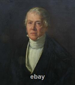Portrait d'Homme Epoque Louis XVIII Ecole Française du XIXème Huile sur Toile