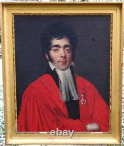 Portrait d'Homme Magistrat Epoque Louis XVIII Ecole française du XIXème H/T