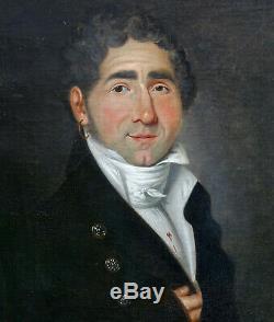Portrait d'homme Epoque Ier Empire Ecole Française du XIXème siècle HST