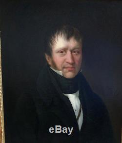 Portrait d'homme Epoque Louis Philippe Ecole française XIXème siècle Huile