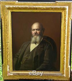 Portrait d'homme Epoque Second Empire Ecole Française du XIXème Siècle HST