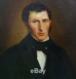 Portrait d'homme Smeets Epoque Louis Philippe Ecole Française XIXème siècle HST