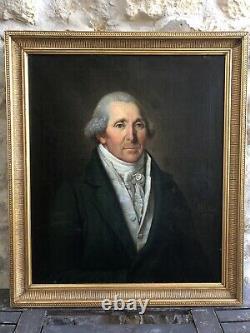 Portrait d'homme époque 1er Empire Ecole Suisse du XIXème siècle 1809
