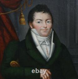 Portrait d'homme époque 1er Empire Ecole française du début du XIXème siècle