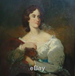 Portrait de Femme Epoque Charles X Ecole Française du début XIXème siècle HST